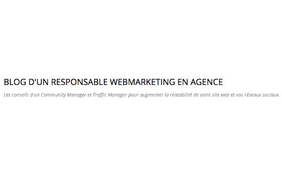 How to submit a press release to Blog d'un Responsable Webmarketing en Agence