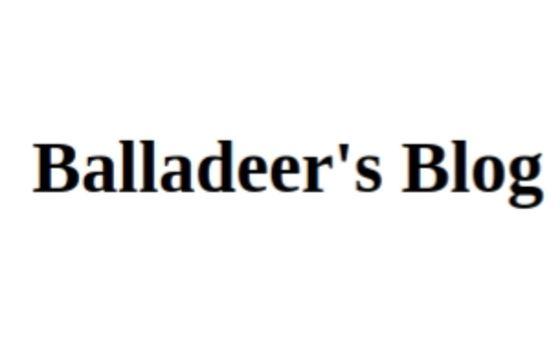 Balladeer's Blog
